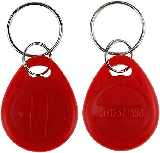 lot de 10 YARONGTECH Tag de proximit/é RFID 125KHz Smart EM ID Em4100 lecture uniquement Rouge//gris//orange//noir//bleu