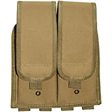Ultimate Arms Gear Tan MOLLE Universal Double Rifle Magazine Pouch For Springfield Armory M1A M1-A Garand/Carbine Socom Rifle
