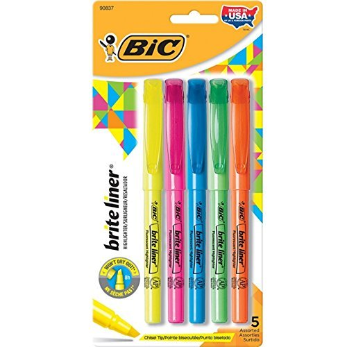 Chisel Fluorescent Highlighter Assorted Colors