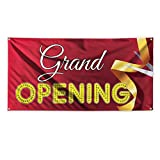 Grand Opening #6 Outdoor Advertising Printing Vinyl Banner Sign With Grommets - 3ftx6ft, 6 Grommets