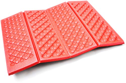 - AceCamp 3940 Portable Lightweight Mini Waterproof Folding Mat, Foam Sitting Pad for Outdoor Activities, Foldable Kneeling and Seat Cushion for Comfort, Red
