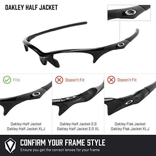 — Oakley Múltiples Jacket Fit Titanio Lentes Mirrorshield Asian Half De Repuesto Polarizados Para Opciones Elite 1Fnp8xwn