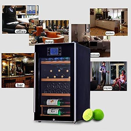 Wine Cooler TX Bodega de 33 Botellas - Enfriador y Calentador de Vino Digital de 110 litros 5ºC a 20ºC, Control de Pantalla táctil | LED de luz fría | Vidrio Templado de 3 Capas