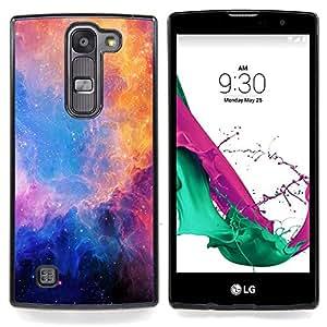 """Qstar Arte & diseño plástico duro Fundas Cover Cubre Hard Case Cover para LG G4c Curve H522Y ( G4 MINI , NOT FOR LG G4 ) (Universo de las estrellas azules nebulosas púrpura"""")"""