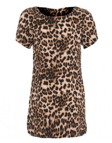 Fashion Stock Room Womens Leopard Print T-shirt Dress - S-M (UK 8-10)   Amazon.co.uk  Clothing 56a5a6de3