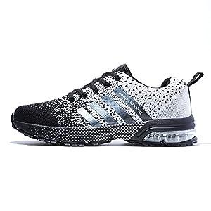 4b468623a427 Meilleures Chaussures de Course Baskets Femme Running Homme Fitness  Entraînement Air Shoes 3 cm 36-47 Noir Noir-Blanc Bleu Rouge Avis