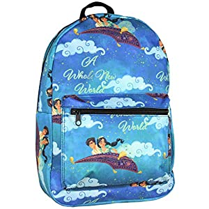 Disney Aladdin Jasmine A Whole New World Allover Print Laptop Backpack Bag