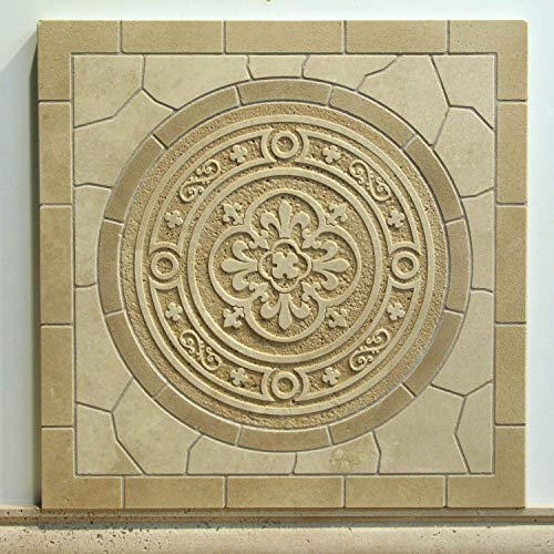 Classical Monolithic Mosaic Etched Tile ()