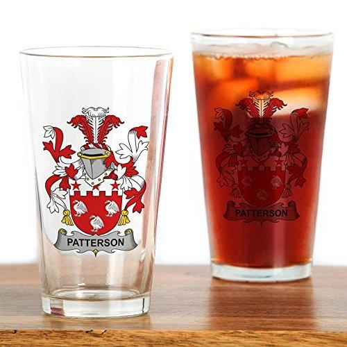 CafePress - Patterson Family Crest - Pint Glass, 16 oz.