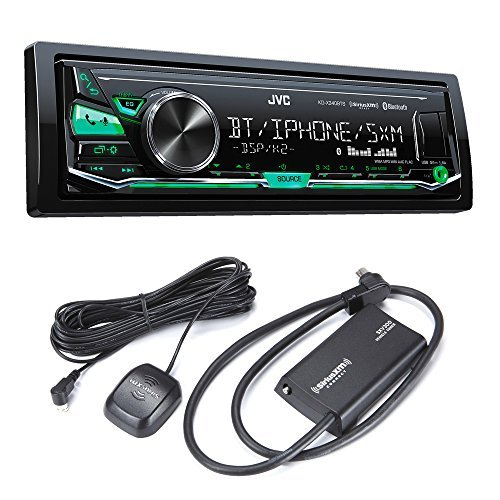 JVC KD-X340BTS Bluetooth In-Dash Digital Media Car Stereo w/ Pandora & iHeartRadio Support with Sirius XM Tuner (Bluetooth Jvc Radio)