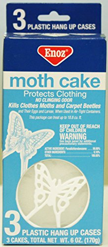 Enoz brand Set of 3 Clothes hanging Moth Cake repellent Closet Hanger Moth Cake