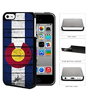 MMZ DIY PHONE CASEColorado State Flag Wood Pattern Grunge Hard Snap on Phone Case Cover iphone 5c