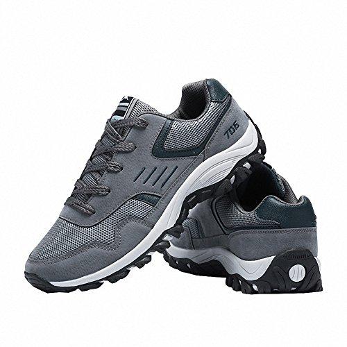 Ben Sports Calzado de correr en montaña de hombre Zapatillas de Zapatos de cordones Calzado deportivo gris