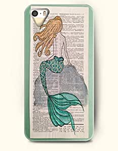 OOFIT Phone Case for Samsung Galaxy S5 I9600/G9006/G9008 -- Gold Hair Mermaid On The Rock -- Oil Painting