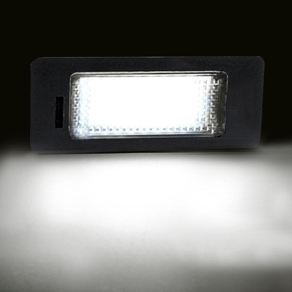 Auto wayfeng WF/® coche LED de la matr/ícula L/ámpara de luz LED 12/V Blanco 6000/K para BMW E39/E60/E87/E90/E92/E93/M3/E39/E60/E70/X5/E60/E61/M5/E88