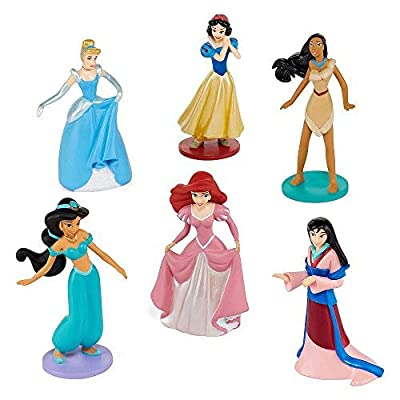Collection Disney Princess 6 piece pc Figurine Playset Jasmine Ariel Pocahontas Snow White Cinderella Mulan