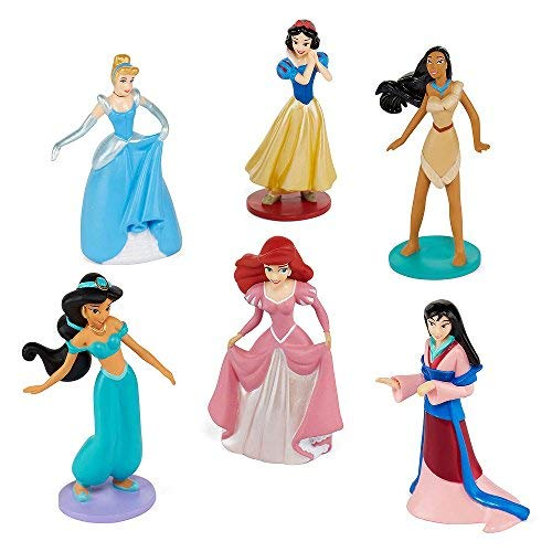 Collection Disney Princess 6 piece pc Figurine Playset Jasmine Ariel Pocahontas Snow White Cinderella -