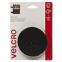 VELCRO Brand-Sticky Back-3/4-Inch Wide Tape, 5-Feet-Black