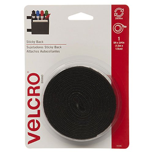VELCRO Brand  - Sticky Back  - 5' x 3/4' Tape - Black