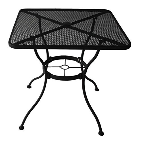 Heavy Duty Square Steel Outdoor Patio or Porch, Restaurant Dining Table, Pub, Bar, Bistro, or Home Use w/Umbrella Hole