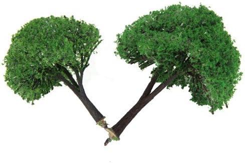 2本 模型用 樹木 建築鉄道電車模型 高さ3.15 / 3.94インチ