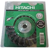 Hitachi 729273 4-Inch Multi-Arbor Twist Knot Carbon Steel Wire Wheel Brush