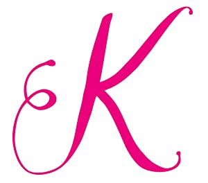 StikArt Cursive Script Letters for Personalized Custom Name Wall Decals, Capital Letter K (Pink)