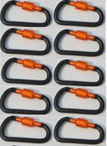 [해외]CandyHome 10 팩 Carabiner 클립, 알루미늄 나사 D 링 잠금 Carabiner 키 체인 봄 클립 후크 옥외 D 모양의 키 체인 버클 캠핑, 안녕하세요/CandyHome 10 Pack Carabiner Clip, Aluminum Screw D Ring Locking Carabiner Keychain Spring Clips Hook...