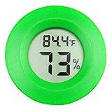 OMEM 2 Pack Digital Reptile Thermometer Switchable Celsius Fahrenheit Lizard Spider Tortoise Terrarium Tank Hygrometer (Green)