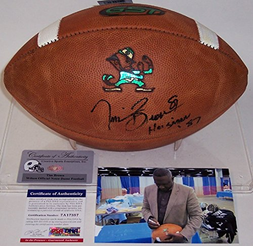 (Tim Brown Autographed Hand Signed Notre Dame Official NCAA Football - PSA/DNA)