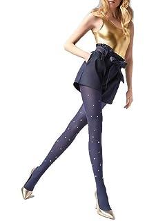 7faab82aa Marilyn Designer Tights w Star Studs Polka Dot Pattern