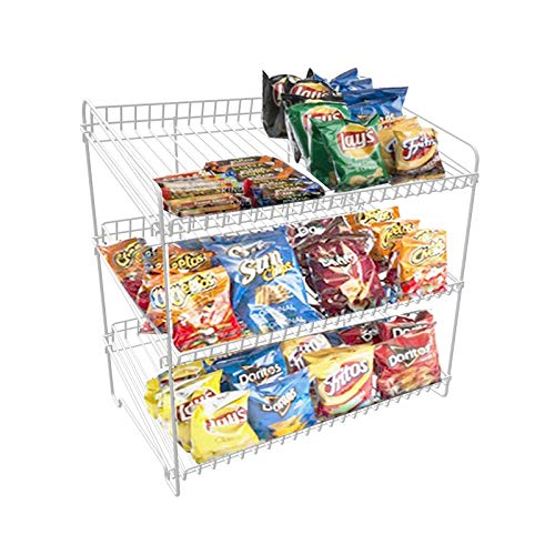 FixtureDisplays 23'' x 23'' x 13.4'' Wire Rack for Countertop Use with 3 Open Shelves 19396-WHITE