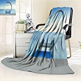 Nalahome Luminous Microfiber Throw Blanket sofa bed and swimming pool in luxury sea view hotel d rendering Glow In The Dark Constellation Blanket, Soft And Durable Polyester(60''x 50'')