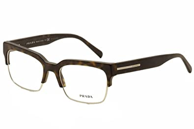 67e245c8ee Image Unavailable. Image not available for. Color  Prada Men s Eyeglasses  VPR19R VPR 19R HAQ-1O1 Matte Havana Optical Frame 54mm