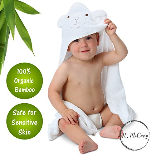 Bamboo Hooded Baby Towel By H. McCurry: 100% Organic Unisex