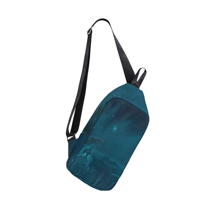 Amazon.com: Sling Bag Leo Constellation Painting Mochilas de ...