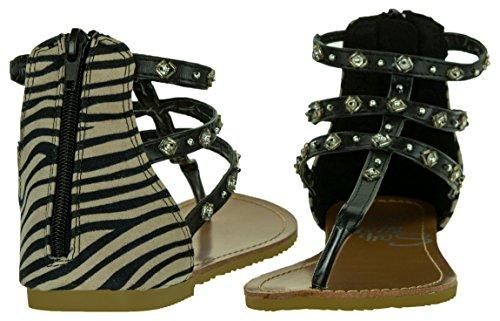 de BEPPI Mujer Sintético Material Vestir 36 Para Sandalias de Talla Negro Negro EU Color Negro w0a0An