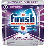 Finish Quantum Max Powerball Dishwasher Detergent Tablets,  45 Count