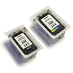 CANON PG-243 Black + CL-244 Color Ink Cartridge Combo Kit (New in Non Retail Packaging)