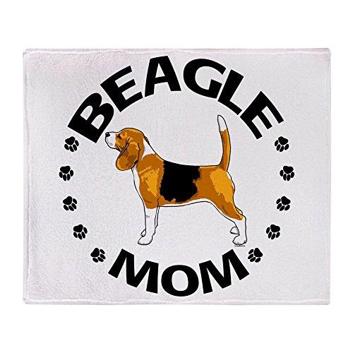 Beagle Fleece - CafePress - Beagle Mom - Soft Fleece Throw Blanket, 50