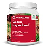 Amazing Grass Green Superfood, Berry, Powder, 100 Servings, 28.2oz, Wheat Grass, Spirulina, Alfalfa, Acai, Maca, Flax Seed, Detox, Active Cultures, Vitamin K, Greens, Probiotic
