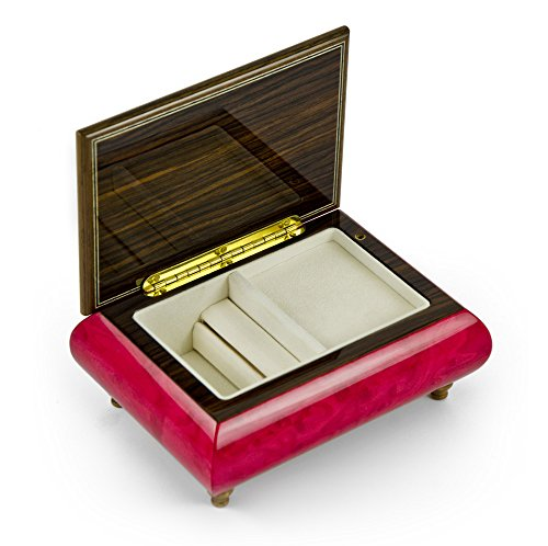 Old World 18 Note Italian Red Floral Music Jewelry Box - There is No Business Like Show Business by MusicBoxAttic (Image #2)