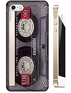 Cassette Tapes Style Vintage Cell Phone Cases for iPhone 5C Color Transparent Brown