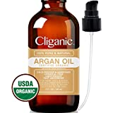 USDA Organic Argan Oil, 100% Pure (2oz) | Moroccan Argan Oil for Hair, Face & Skin | Natural Cold Pressed Unrefined Carrier Oil - Certified Organic | Cliganic 90 Days Warranty