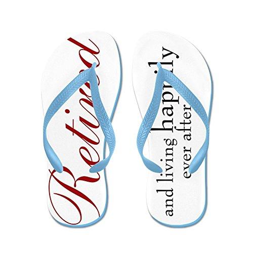 CafePress Retired/Retirement - Flip Flops, Funny Thong Sandals, Beach Sandals Caribbean Blue