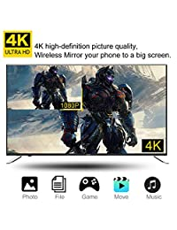 ?2019 New Upgraded?4K WiFi Display Dongle TV cast 4K WiFi Wireless Display Dongle for TV 2.4G Streaming Media Player Airplay Dongle Mirroring Screen from Phone to Big Screen Support Ezmira Miracast Ai