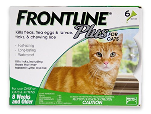 Frontline Plus Flea and Tick Control for Cats and Kittens, 6 MO. SUPPLY