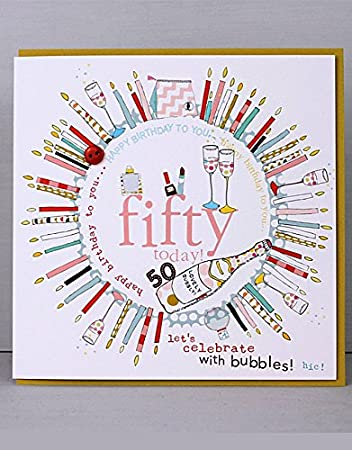 Happy 50th Birthday Cards By Molly Mae COL15