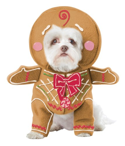 California Costume Collections Gingerbread Pup Dog Costume, (Christmas Dog Costumes)