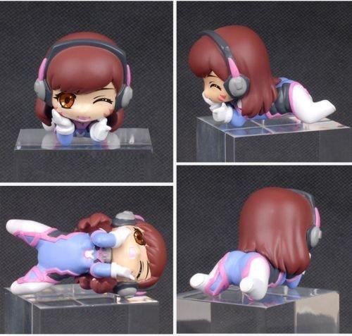 NEW Ow Overwatch Anime Cute Tracer D.va Dva PVC Figure 3D Model With Box(D.va)